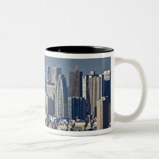 Tokyo, Shinjuku District Skyline, Mount Fuji, Two-Tone Coffee Mug
