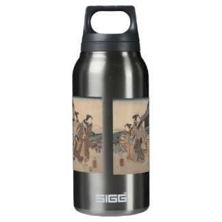 Tokyo Street Scene with Mt. Fuji Insulated Water Bottle
