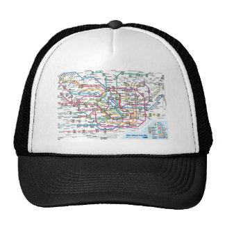Tokyo Subway Map Baseball Cap Trucker Hat