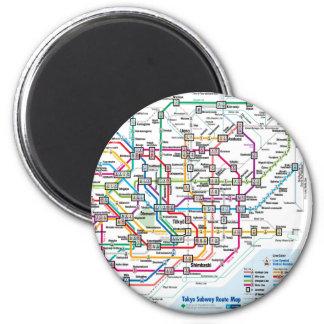 Tokyo Subway Map Fridge Magnet