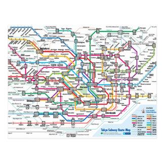 Tokyo Subway Map Postcard