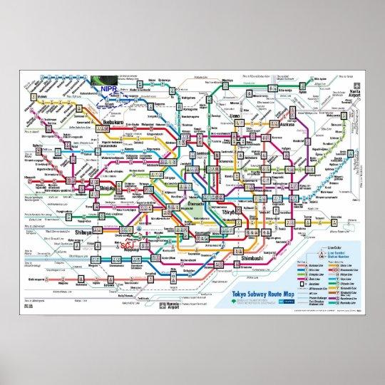 Tokyo Subway Map Framed.Tokyo Subway Map Ultra High Res Large Poster