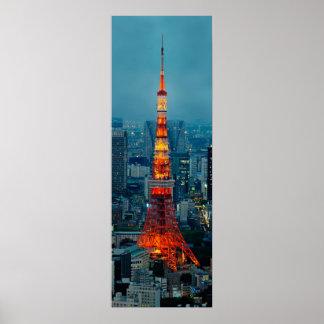 Tokyo Tower at sunset Print