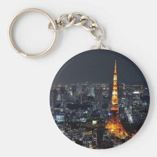 Tokyo Tower by Night Key Chains