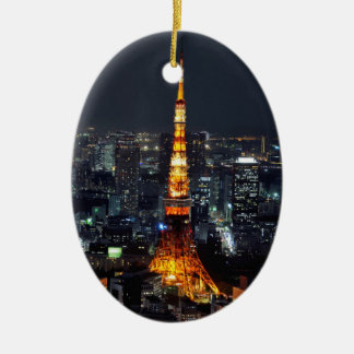 Tokyo Tower by Night Ornament