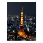 Tokyo Tower by Night Post Cards
