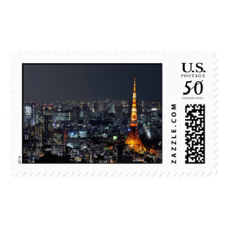 Tokyo Tower by Night Postage