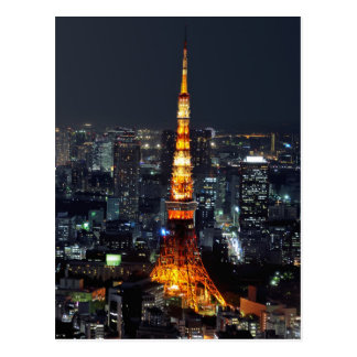 Tokyo Tower by Night Postcard