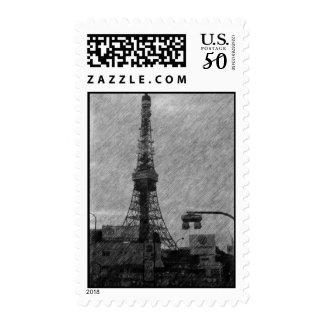 Tokyo Tower Sketch Stamp
