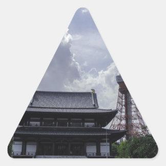 Tokyo Tower Triangle Sticker