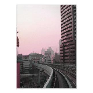 Tokyo Train tracks 5x7 Paper Invitation Card