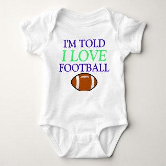 Told I Love Football Baby Bodysuit