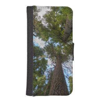 Toldo de árbol de abeto de douglas funda tipo billetera para iPhone 5