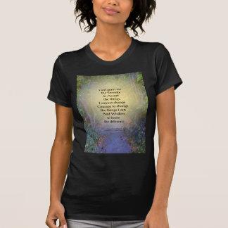 Toldo de árbol del rezo de la serenidad camiseta