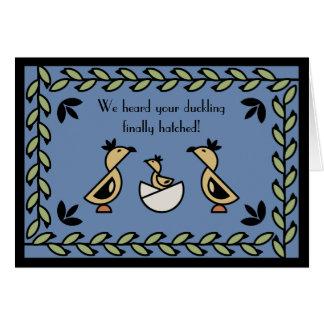 Tole Duckling New Baby Boy Congratulations Card