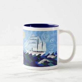 Tole Mour Two-Tone Coffee Mug