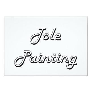 Tole Painting Classic Retro Design 5x7 Paper Invitation Card