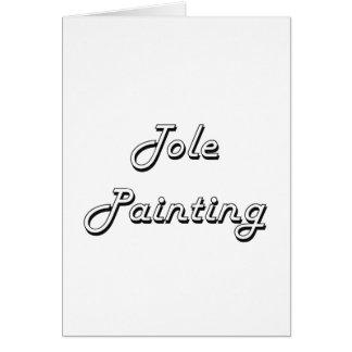 Tole Painting Classic Retro Design Greeting Card