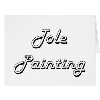 Tole Painting Classic Retro Design Large Greeting Card