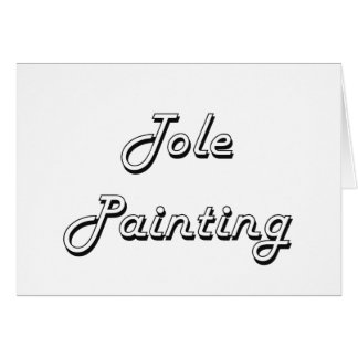 Tole Painting Classic Retro Design Stationery Note Card