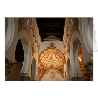 Toledano y la sinagoga antigua tarjeta de felicitación