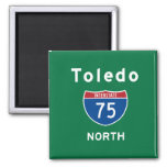 Toledo 75 imán cuadrado