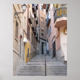Toledo Alley Steps Art Print Poster