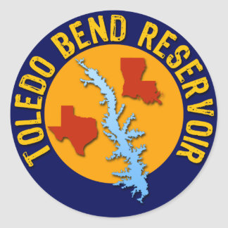 Toledo Bend Reservoir Classic Round Sticker