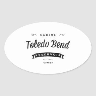 Toledo Bend Reservoir Oval Sticker