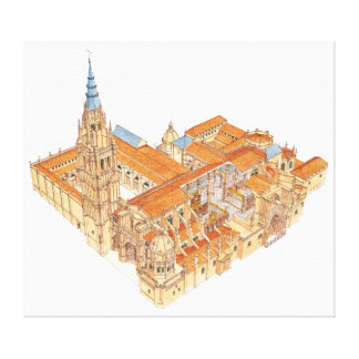 Toledo Cathedral. Spain Canvas Print