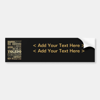 Toledo City of Ohio State Typography Art Bumper Sticker