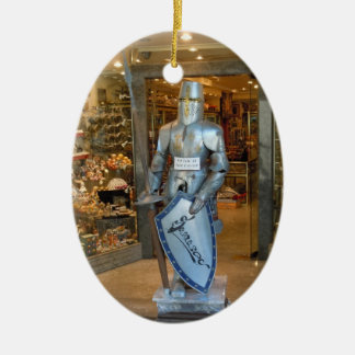 Toledo, España - ornamento del árbol de navidad Adorno Navideño Ovalado De Cerámica