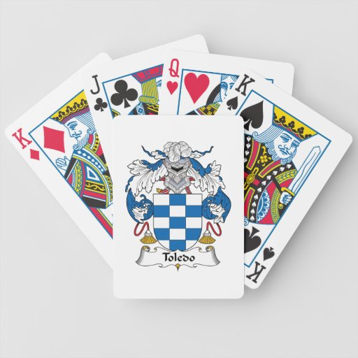 Toledo Family Crest Bicycle Playing Cards