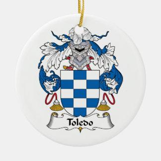 Toledo Family Crest Christmas Tree Ornament