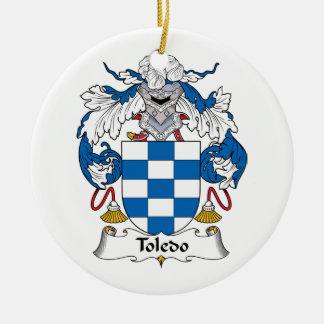 Toledo Family Crest Christmas Tree Ornaments