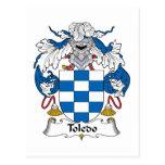 Toledo Family Crest Post Card
