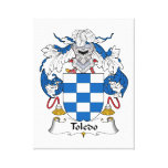 Toledo Family Crest Stretched Canvas Prints