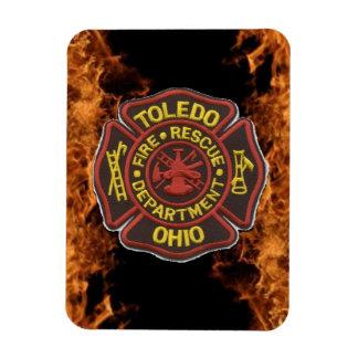 "Toledo Fire 3""x4"" Flexible Magnet"