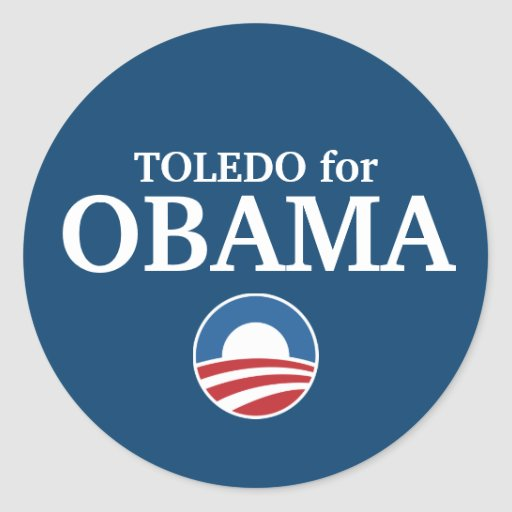 TOLEDO for Obama custom your city personalized Classic Round Sticker