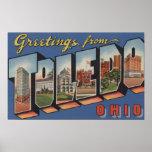 Toledo, letra ScenesToledo, OH 2 de OhioLarge Póster