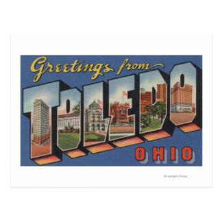 Toledo, letra ScenesToledo, OH de OhioLarge Tarjeta Postal
