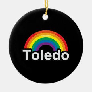 TOLEDO LGBT PRIDE RAINBOW ORNAMENTS