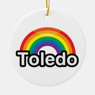 TOLEDO LGBT PRIDE RAINBOW - png Ornament