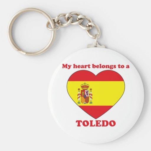 Toledo Llavero Redondo Tipo Pin
