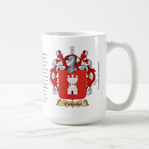 Toledo nombra, el origen, el significado y el escu taza de café