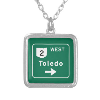 Toledo, OH Road Sign Pendants