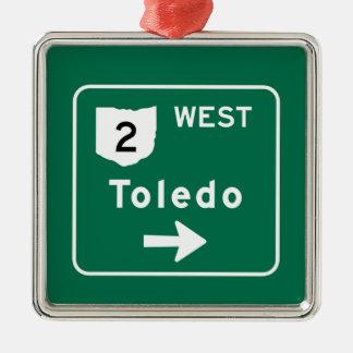 Toledo OH Road Sign Ornament