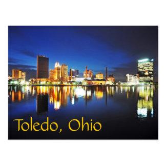 Toledo, Ohio at dusk Postcard