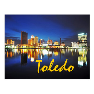 Toledo, Ohio at dusk Postcard