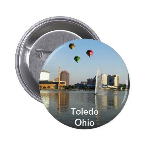 Toledo Ohio City 2 Inch Round Button